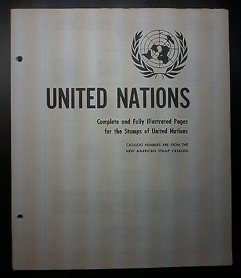 1951-1984 United Nations Sheet with Stamps,90% Complete,Inc: MiniSheets,#495