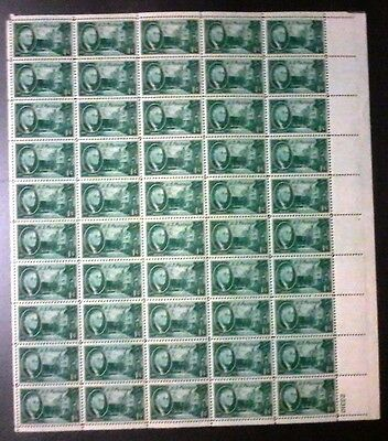 1882 - 1945 USA, Roosevelt Block of 50 Stamps,MUH,some perf sep,#498