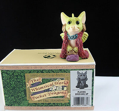 """Pocket Dragons """"Playing Dress-Up"""" by Real Musgrave 1994 Mint Condition No Box"""