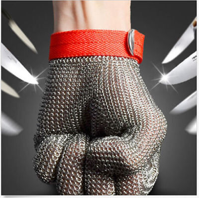 Grade 5 Safety Cut Proof Stab Resistant Stainless Steel Metal Mesh Glove