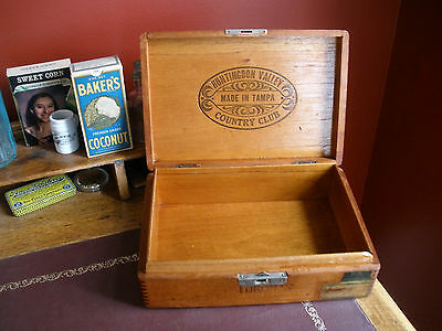 Vintage CORONAS 50 CIGAR BOX with Tax Stamp - DOVETAIL - BOITE NATURE