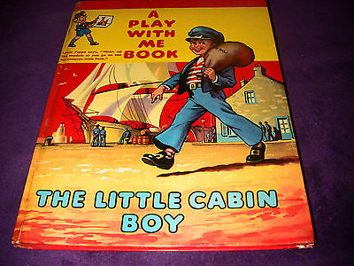 'The Little Cabin Boy' vintage 1960's 'A Play With Me Book with Make Up Models'
