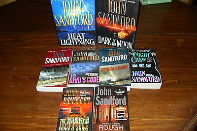 Bundle of Mystery Thrillers  JOHN SANDFORD ++ free s/h CAN