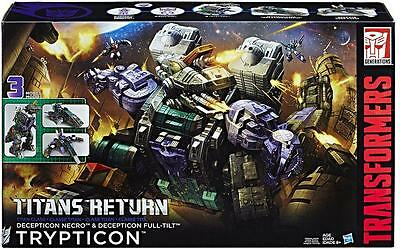 DHL Stock Now NEW Hasbro Transformers Titans Return Decepticon Necro Trypticon