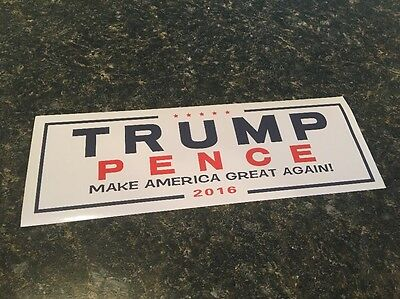 President Donald Trump Pence Make America Great Again Bumper Stickers New GOP