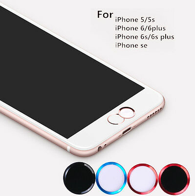 11 Colors Aluminium Touch ID Home Button Finger Print Sticker For iPhone 7 5S 6S