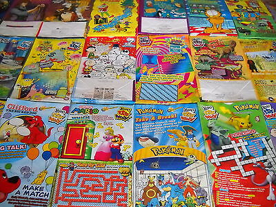 Wendy's Lot Of 45 Happy Meal Bags 25 Different Mario 2-Diff Pokemon