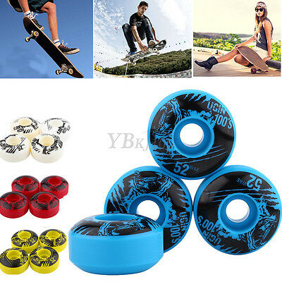 4pcs/set 52 x 30mm Long Board Wheel High Strength Skateboard Wheel Multicolor
