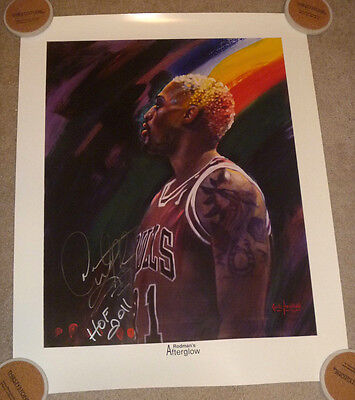 Dennis Rodman Authentic Signed Chicago Bulls Lithograph Autographed