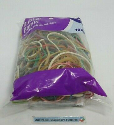 Rubber Bands Dats 100g Assorted Colours Assorted sizes free postage