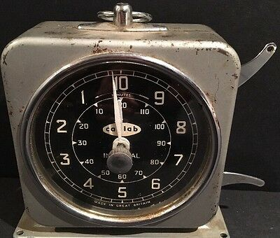 Vintage Canlab Interval Timer Clock By English Clock Systems S. Smith Sons