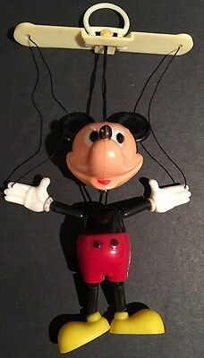 Vintage 1970 Mickey Mouse Peppy Puppet Miniature Marionette Kohner Walt Disney