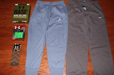 Lot Under Armour Tactical Pants Air Jordan Nike Sweat Pants Boxerjock Socks New