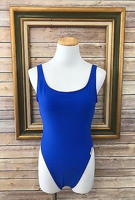 Vintage Body Glove Blue High Cut One Piece Swimsuit Bathing Suit Size 9/10