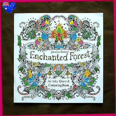 ENCHANTED FOREST - Mini ADULT COLOURING ART THERAPY - Colour in 24pg NEW BOOK