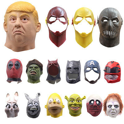 Latex Mask Adult Cosplay Party Full Head Figure Prop Fancy Dress Halloween Party
