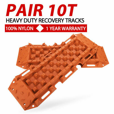 Pair 10T Orange Sand Recovery Tracks Off Road 4x4 4WD Car Snow Mud Track 10 Tons