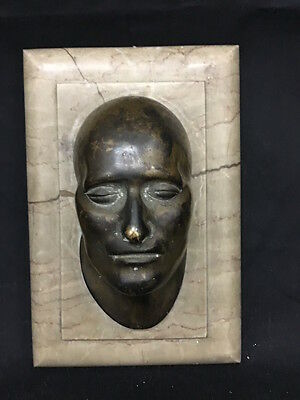 Antica testa in bronzo su base di marmo anni '20- Old Bronze and marble head 20s