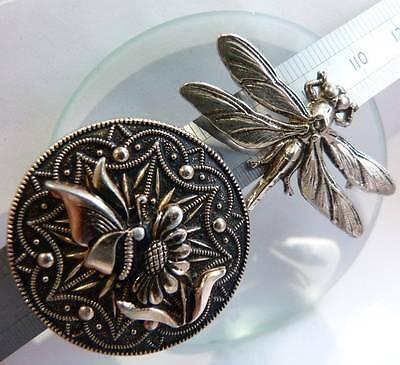 Vintage Lot Jewellery Vintage Insect Dragonfly Brooch Scarf Clip Ring Mixed Lot,