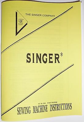 Singer 9111,9117,9123,9124,9137,9417 & Concerto 300 sewing machine user Manual