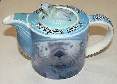 PAUL CARDEW: Rare Wild Cafe Endangered Species 'SEA OTTER' Small Teapot