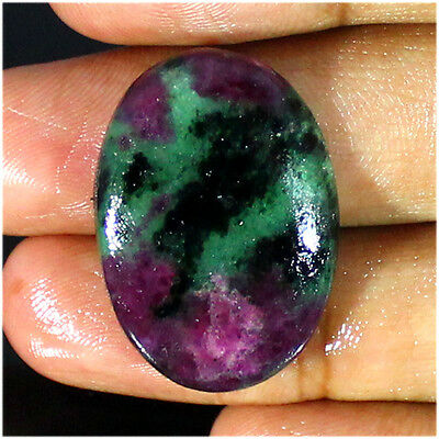 35.90 Ct Natural Superb Ruby Zoisite Oval Cabochon Loose Gemstone Stone_Artt