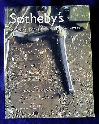 IMPORTANT WATCHES & CLOCKS Southeby,s London Auction Catalgue, March 2002