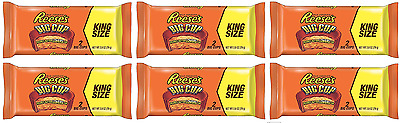 904159 6 x 79g PACKETS OF REESE'S PEANUT BUTTER CHOCOLATE BIG CUP KING SIZE! USA