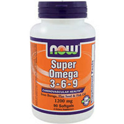 Super Omega 3-6-9 90 Sgels 1200 mg by Now Foods