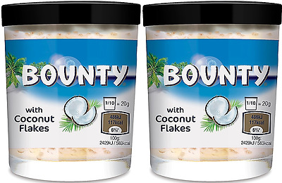 909703 2 x 200g JARS OF BOUNTY SPREAD WITH COCONUT FLAKES GREAT VALUE AMERICAN!