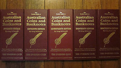 5 Australian Coins and Banknotes Signed Hardcovers By Greg McDonald LE 500