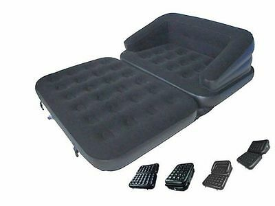 Double Sofa Air Bed Inflatable Blow Up Couch Furniture Camping Bed
