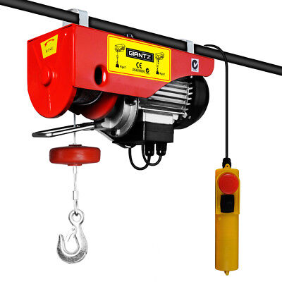 400 / 800kg 1300W Electric Hoist Winch - Crane Cable Lift Garage Lifting New