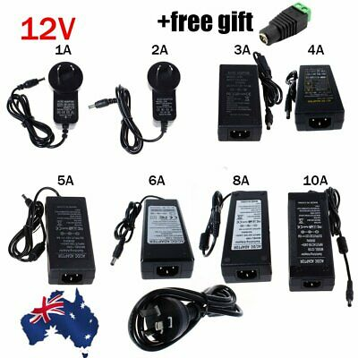 1A 2A 5A 10A 12V DC Power Supply Charger Adapter Transformer 3528 5050 LED Strip