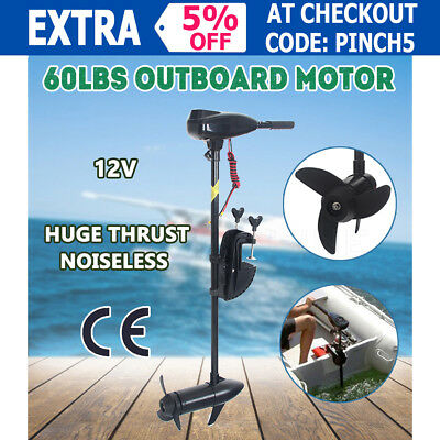 NEW 60LBS Electric Trolling Engine Inflatable Boat Fishing Craft Outboard Motor