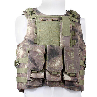 Ajustable Molle Chaleco Ropa Táctico Camuflaje Airsoft Caza Correa Paintball