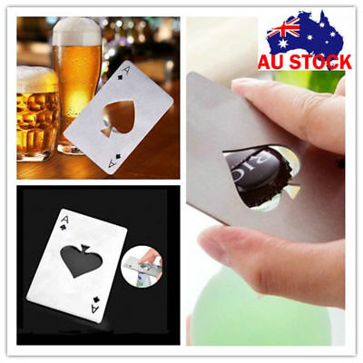 Lot Metal Bottle Opener Creative Outdoor Poker Playing Cards Throwing Toy Gifts