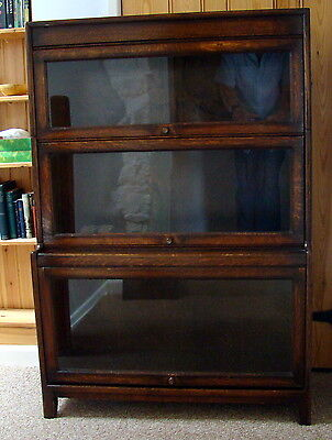 Antique Oak Gumm 3 Section Stacking Bookcase.Early/Mid 20th c.All Original.