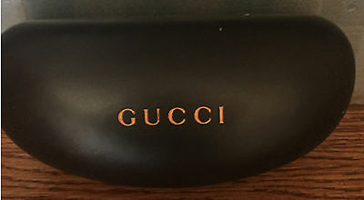 Gucci Sunglasses Eyeglasses Case Brown Hard Clamshell Large Case Only