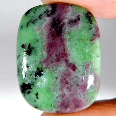 47.05cts 100% NATURAL DESIGNER GREEN PINK RUBY ZOISITE CUSHION CABOCHON GEMSTONE