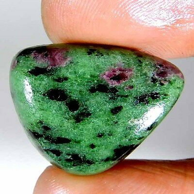 31.35cts 100% NATURAL DESIGNER GREEN PINK RUBY ZOISITE FANCY CABOCHON GEMSTONE