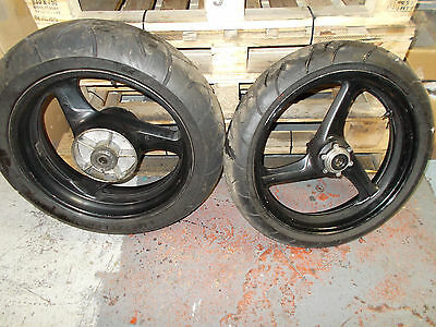 Honda Cbr 600 F4 Cbr600F Fx Fy Pc35 1999 2000 2001 Front And Rear Wheels & Tyres