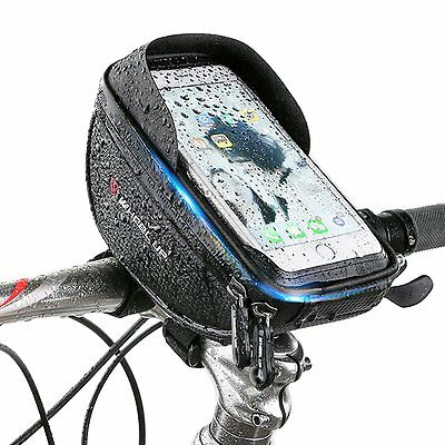 "Bike Bicycle Handlebar Front Bag Case Pouch for 6.0"" Touch Screen Mobile Phone"