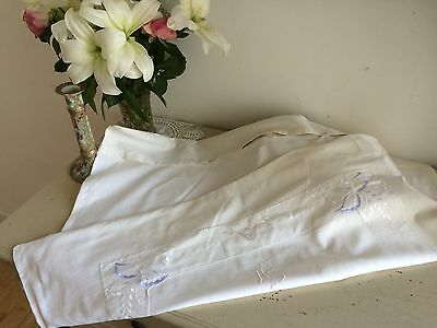 Huge Art Nouveaux Pillow Case Slip Monogrammed Appliqué Hand Made French Linen