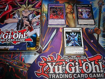 Yugioh 3X Deck Starter Set Spellcaster , Ancient Gear , Bujin + Tin