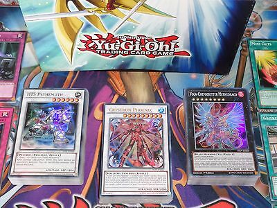 Yugioh 3 Deck Starter Set Crystron Psy Frame Chemicritter 18 Staples + Deck Box