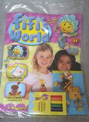Fifi and the Flowertots comic / magazine & magnet ,*Brand new* issue 34 World