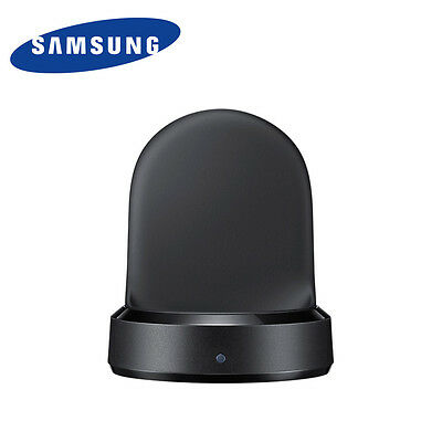 Genuine SAMSUNG Gear S3 Wireless Charger Dock Stand Black With Retail Package