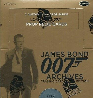 James Bond 007 Archives 2014 Cards Sealed Box by Rittenhouse, 2 Autographs