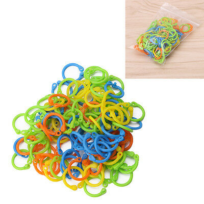 100Pcs Knitting Stitch Markers Crochet Locking Tool Craft Colorful Ring Marker
